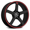 MR116 BLACK RED STRIPE
